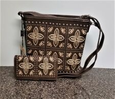 Montana West Embroidery Crossbody Bag Matching Wallet Western Countrygirl Purse