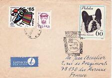 T15 enveloppe thème CHIEN oblitération WARSZAWA WYSTAWA FGI 1986