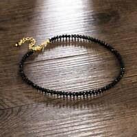 Women Black Crystal Clavicle Choker Necklace Pendant Christmas Party Jewelry