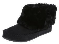 AIRWALK Girl's Shoes ANKLE FUR BOOTS Mocassin WINTER Rain BL Size 4 Womens 6 NEW