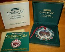 Longaberger 1996 Collectors Club Home Town Holiday Christmas Ornament First Ever