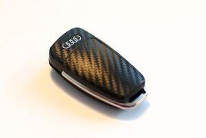 Audi R8 TT 8j A4 S4 A3 S3 q7 a1 a2 s3 key carbon fiber look key sticker