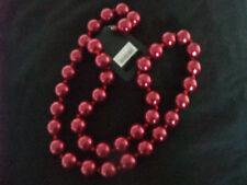 CHUNKY RETRO 80s METALLIC RED WINE CHRISTMAS XMAS BEADS 97 cm new gift pouch