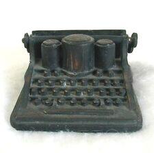 "Miniature Die Cast Bronze Typewriter DURHAM INDUSTRIES 1976 3"" Hong Kong"