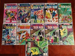 Marvel Comics Invincible Iron Man #171-179 11 Comic Book Lot