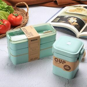 Bento Box Food Container Thermal Lunchbox For Kids Leakproof Insulated Portable