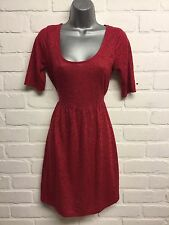 DOROTHY PERKINS RED SIZE 8 DRESS SHORT SLEEVED