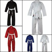 Blitz Childrens Karate Suit GI + Free White Belt - Kids White,Black, Red. Blue