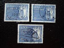 DANEMARK - timbre yvert et tellier n° 753 x3 obl (A33) stamp denmark