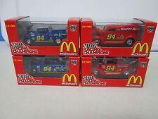 Lot of 4 Racing Champions Bill Elliott McDonalds Happy Meal and Mac at Night