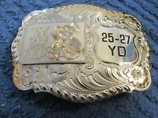 Shooting trophy belt buckle Toys For Tots 25-27 yard