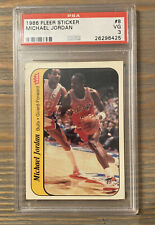 '86 Fleer Michael Jordan, RC Rookie Card, Sticker, PSA 3 VG, Chicago Bulls
