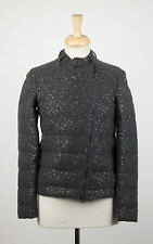 NWT BRUNELLO CUCINELLI Gray Cashmere Blend W/ Sequins Jacket Size 4/40 $4810