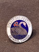Statford Festival Pin Ontario Canada Enamel Shakespeare Swan The Bard Vintage