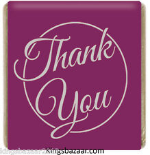 500x Purple Thank You Neapolitan Milk Chocolate Favours Individual Foil Wrapped