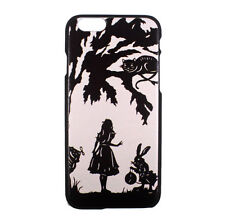 Alice in Wonderland Cheshire Cat White Rabbit Hard Case Cover for iPhone 6 6S
