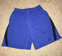 Nike Dri-Fit Mens Blue/ Black Training Running Gym Basketball Shorts - L Pockets