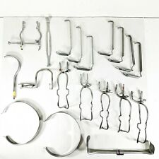 (Lot of 19) Misc Surgical Retractor & Gag Instruments V. Mueller, Aesculap, More