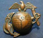 WWI USMC US Marine Corps Large EGA Hat Badge/Device Bronze =