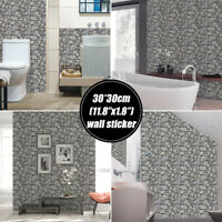 3D Tile Brick Wall Sticker Self-adhesive Panel Stick Wall PVC DIY For Home Decor