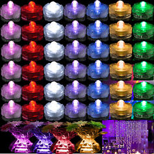 6 12 24 36 48 Waterproof Submersible Led Tea Light Party Wedding Decoration