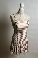 Forever 21 Womens Dress Spaghetti Strap Size S Stripped White