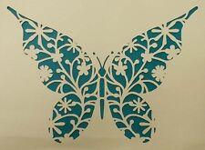 Scrapbooking - STENCILS TEMPLATES MASKS SHEET - Butterfly Flourish Stencil