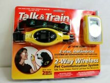 Talk & Train 2-Way Wireless Pet Dog Training Collar 2 mile Yellow Walkie Talkie