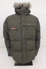 Foursquare High Quality Thickly Insulated Olive Green Down Jacket Men's Large