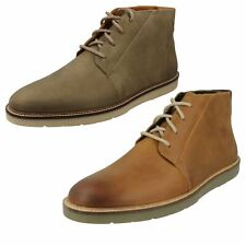 Mens-Clarks Casual Lace Up Chukka Boots Grandin Mid