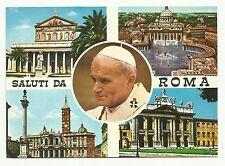 Saluti da Roma, Pope John Paul II, Italy postcard