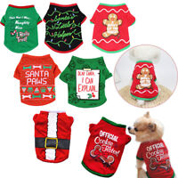 Funny Puppy Christmas Dog Sweatshirts Pet Party Clothes Vest Halloween Costume--