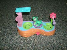 Littlest Pet Shop  Green Pond Tree Frog 283 Diving Board Leap Frog Playset