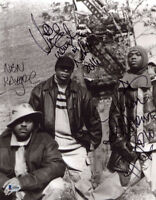 NAUGHTY BY NATURE GROUP SIGNED AUTOGRAPHED 11x14 PHOTO O.P.P. BECKETT BAS LOA