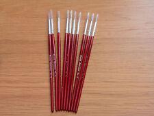 Modellng Fino Cepillo De Pintura Pinceles Talla 2 Puro Sable Modelo Pack De 10