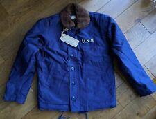 BOB DONG Repro US Navy 40s N-1 Deck Jacket Winter Woolen Military Coat USN
