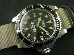New Customized SEIKO NH35 Sub COMEX Mod Thick Acrylic Crystal NATO Water Proof