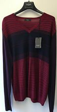 "Paul Smith London V Neck Pullover Merinowolle XXL Pit zu Pit 23"" RRP £ 190"