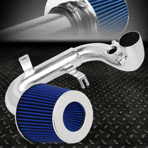 FOR 04-06 SCION XA 1.5L 1-PIECE ALUMINUM ENGINE COLD AIR INTAKE KIT+BLUE FILTER