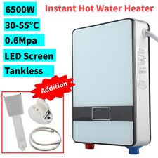 6500W Instant Electric Tankless Hot Water Heater Bath Kitchen Shower Kit Ac 220V