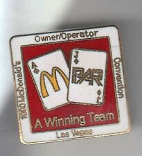 RARE PINS PIN'S .. MC DONALD'S  CONVENTION LAS VEGAS 1990 POKER CARTES ~12
