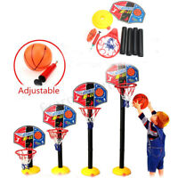 Kids Adjustable Mini Basketball Set Indoor Net Hoop Ball Pump Sport Game Toy