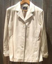 SALE!  NOS VTG  Adler Beige Leather Jacket / Womens L / Front Button Closure