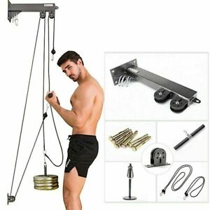 Pulley Cable Machine Home Gym Workout Equipment Set Hand Strength Training Set