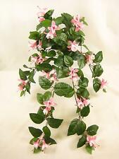 Artificial Flowers Wired Fuchsia Trailing Plant for Hanging Baskets, Trellis