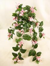 Flores Artificiales Con Cable fucsia trailing planta para cestas colgantes, enrejado