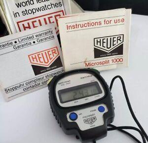1980`s Heuer Microsplit 1000 Digital Stopwatch