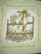 Vintage Genuine HOLLY HOBBIE Fabric Panel #7 (27cm x 27cm) Trademarked