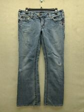 Silver Tuesday Jeans Womens 30 x 31 Medium Wash Western Cowgirl Distressed Rodeo
