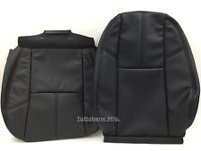 2007-2014 SILVERADO  AVALANCHE-LEATHER DRIVER BOTTOM AN BACKRST SEAT COVER BLACK